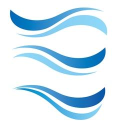water waves design elements vector image vector image
