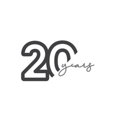 20 years anniversary celebration number template vector