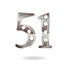51 years anniversary celebration design vector