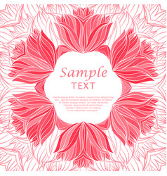 abstract floral hand drawn frame vector image
