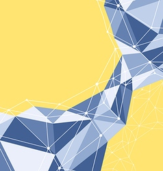Abstract geometric polygon background vector
