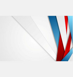 abstract red blue grey stripes corporate vector image
