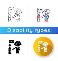 Asperger syndrome icon vector