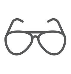 Aviator sunglasses line icon travel and tourism vector