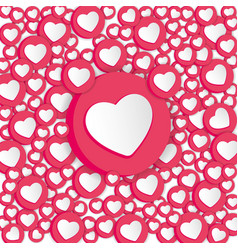 background with hearts signs social network vector image