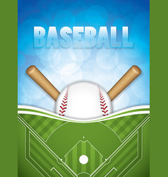 Baseball brochure vector
