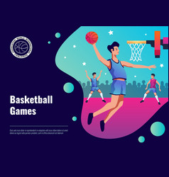 Basketball games poster vector