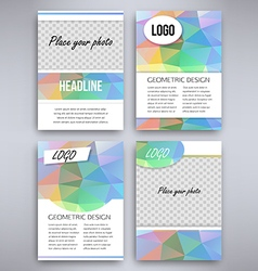 Big set of multicolor design flyer template vector image