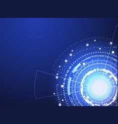 blue technology circle and computer science vector image