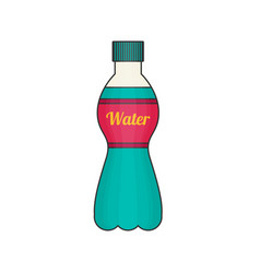 Bottle of water icon in flat style vector