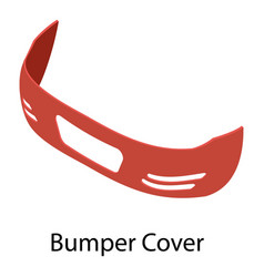 Bumper cover icon isometric style vector