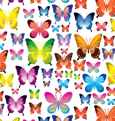 Butterfly pattern on transparent background vector