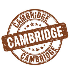 Cambridge stamp vector