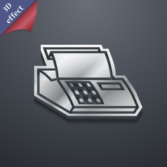 Cash register machine icon symbol 3D style Trendy vector image