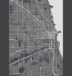 Chicago city plan detailed map vector