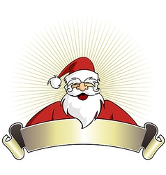 christmas series happy santa claus with blank vector image