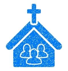 Church Grainy Texture Icon vector image