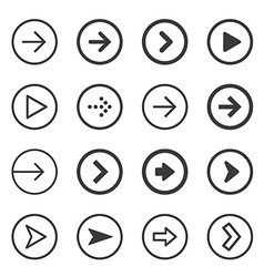 Clean and modern arrows sign icon set vector image