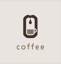 coffee machine logo vector image