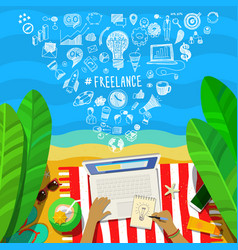 Concept of freelance vector