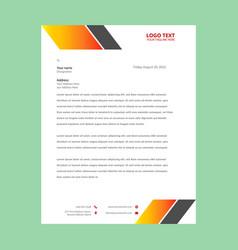 corporate letterhead vector image