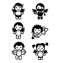 cupid angels vector image
