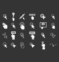 cursor icon set grey vector image