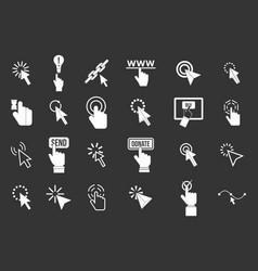 cursor icon set grey vector image