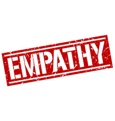 Empathy square grunge stamp vector