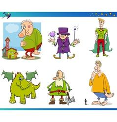 fantasy characters set vector image