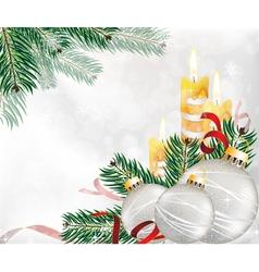 Festive Glitter Christmas Background vector image