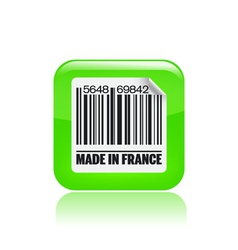 french label icon vector image