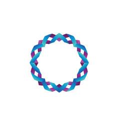 glossy color ribbon form a circle vector image