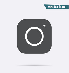 gray camera icon isolated on background modern si vector image