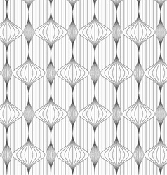 Gray striped vertical Chinese lanterns on vector