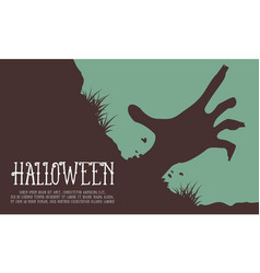 halloween background hand zombie collection vector image