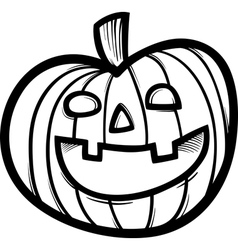 Halloween pumpkin cartoon for coloring vector