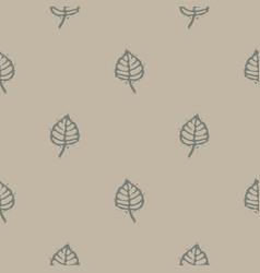 Handmade carved block print leaf seamless pattern vector