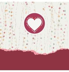 Heart frame Valentine card EPS 8 vector image