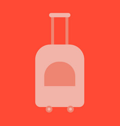 icon in flat design for airport suitcase on wheels vector image