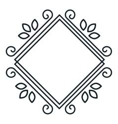 Icon label resturant design vector