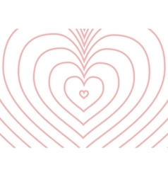 Infinity pink heart silhouette on white a4 size vector