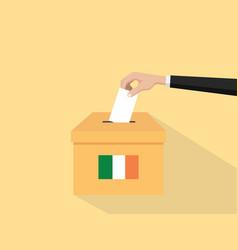 ireland election vote concept vector image