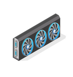 Isometric computer video card vector