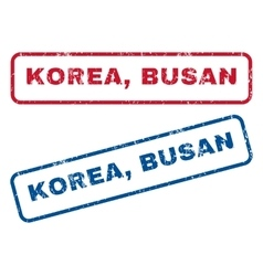 Korea Busan Rubber Stamps vector image