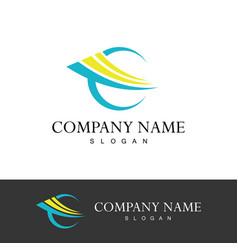Loop abstract company logo vector
