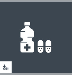 medical bottle related glyph icon vector image