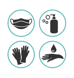 Medical icons for personal care vector
