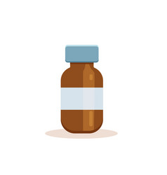 medicine bottle with label vector image