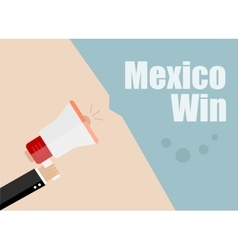 Mexico win Flat design business vector image